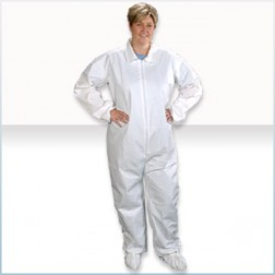 ComforTech Microporous Cleanroom Coveralls with Elastic Wrist/Ankle
