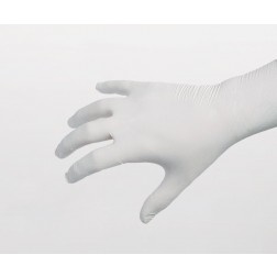 "Class 100 (ISO 5) Nitrile Cleanroom Gloves with 12"" Cuffs, White"