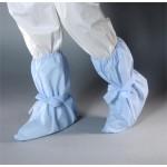 AquaTrak Cleanroom Boot Covers with Elastic Top, Ankle Ties, Sonic Welded Seams