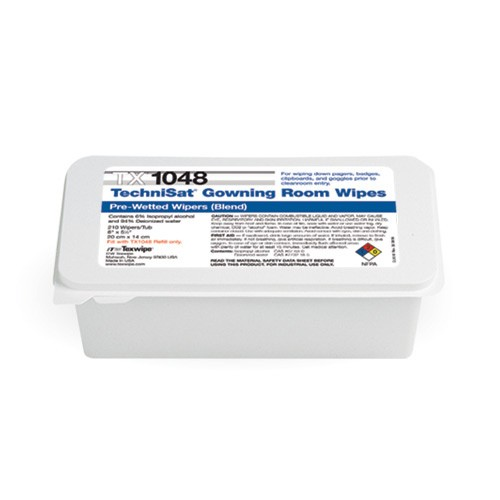 "TX1048 Texwipe TechniSat 8""x5"" Cleanroom Wipers 6% IPA"
