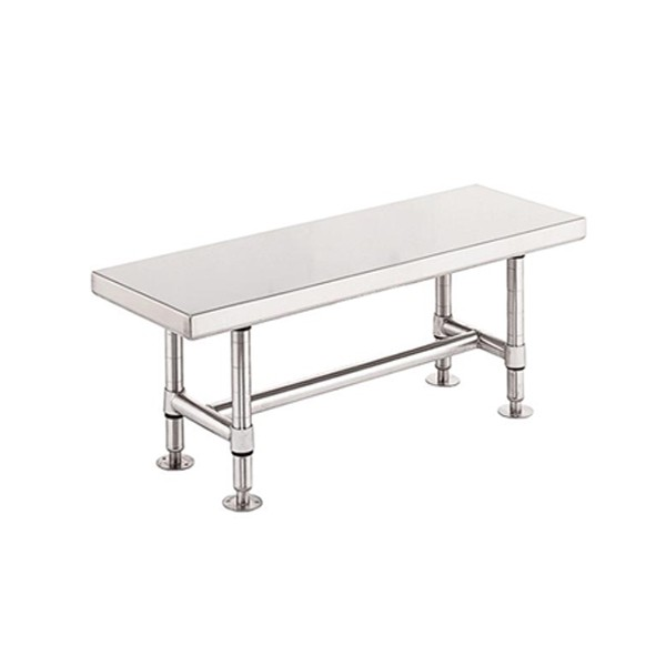 Metro Cleanroom Stainless Steel Gowning Bench - Solid
