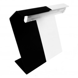 Angstrom Black & White Visual Inspection Background - Tabletop with Light