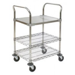 Ceanroom Utility Cart - Solid Shelf