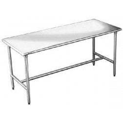 "24"" Width 16 Gauge Worktables with 304 Stainless Steel Flat Top 7005-24W"