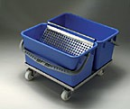 Slim'T' Double Bucket Cart for Cleanrooms