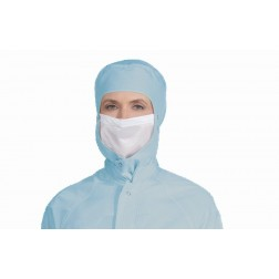 Attachable Polyester Face Mask for Cleanrooms