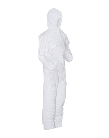 PolyPro Heavy Duty Basic Protection Cleanroom Coveralls with Hood & Elastic Wrists