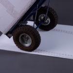 Wheels on Sticky Mat Mount
