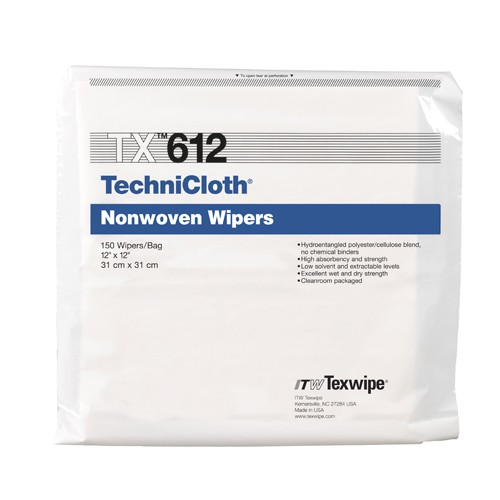 "TX612 Texwipe TechniCloth 12""x12"" Cleanroom Wipers"
