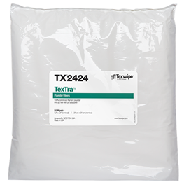 "TX2424 Texwipe TexTra 12""x12"" Cleanroom Wipers"