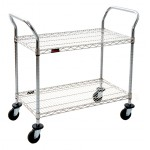 Cleanroom Utility Cart - 2 Shelf
