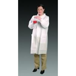 AlphaGuard Lab Coats with Tapered Collar, Elastic Wrist