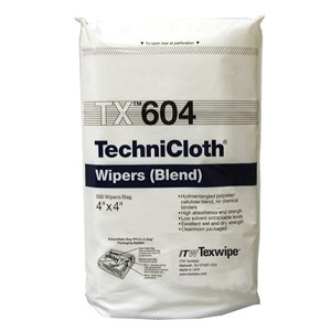 "TX604 Texwipe TechniCloth 4""x4"" Cleanroom Wipers"