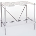 Metro Cleanroom Stainless Steel Perforated Top Table