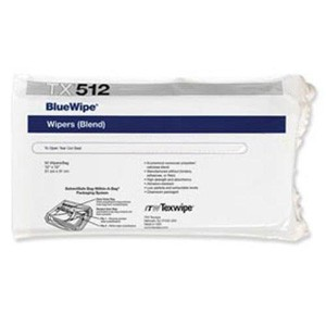 "TX512 Texwipe BlueWipe 12""x12"" Cleanroom Wipers"
