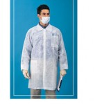 Value Polypropylene Lab Coat, Elastic Wrists, 3 Pockets