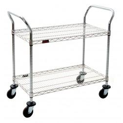 Chrome 2 Shelf Utility Cart
