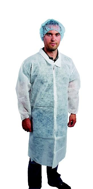 Value Polypropylene Lab Coat with No Pockets