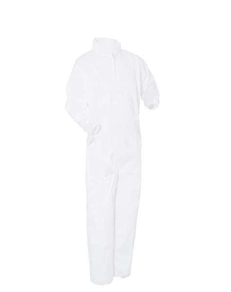 PolyPro Heavy Duty Basic Protection Cleanroom Coveralls with Elastic Wrists/Back & Rear Pocket