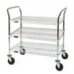 Cleanroom Utility Cart - 3 Shelf