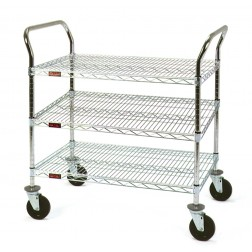 Stainless 3 Shelf Utility Cart
