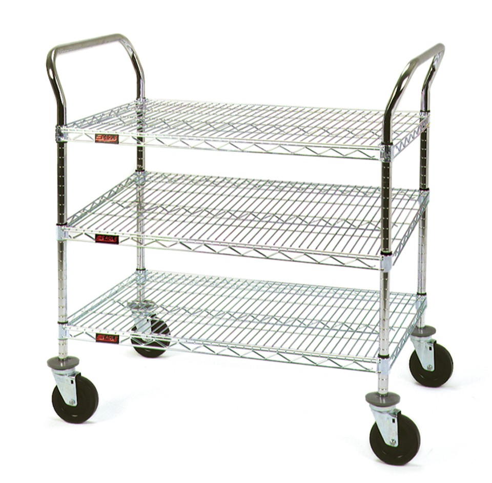 Stainless 3 Shelf Utility Cart