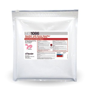 "TX1086 Texwipe Vectra QuanSat 9""x9"" Cleanroom Wipers 6% IPA"
