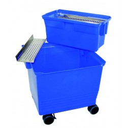 Blue Double Bucket with Waste Containment