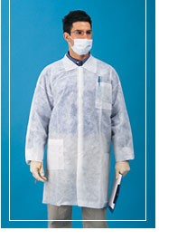 Value Polypropylene Lab Coat with 3 Pockets