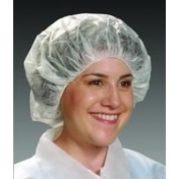 GenPro Bouffants for Cleanrooms, White