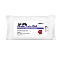 "TX3217 Texwipe Sterile TechniSat 9""x11"" Cleanroom Wipers 70% IPA"