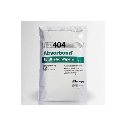 "TX404 Texwipe Absorbond 4""x4"" Cleanroom Wipers"