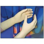 """Class 100 (ISO 5) Sterile Latex Cleanroom Gloves, 12"""" Cuff, 6.5 Mil, Hand Specific, 200 Pair/Case"""