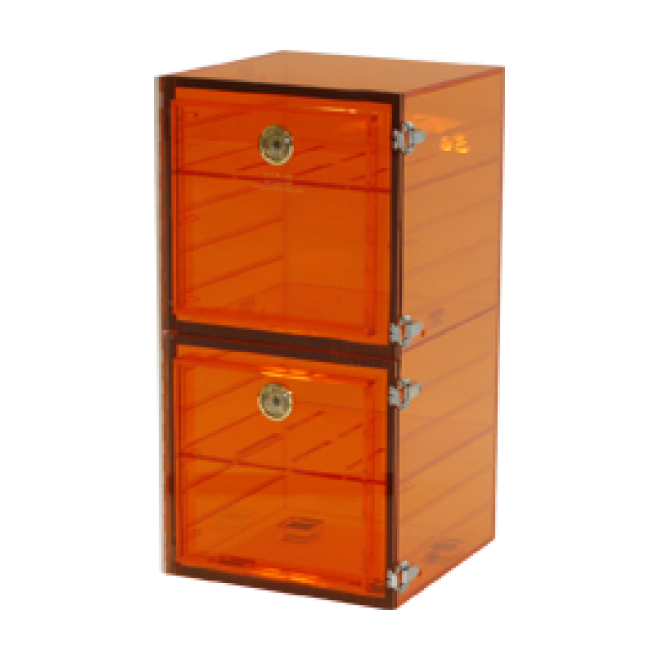 Amber 4 Shelf Desiccator Box