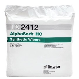 "TX2412 Texwipe AlphaSorb HC 12""x12"" Cleanroom Wipers"