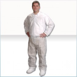 GenPro Polypropylene Cleanroom Coveralls with Elastic Wrist/Ankle/Back
