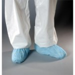 GenPro Cleanroom Shoe Covers with Anti-Skid Adhesive - Serged Seams