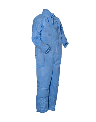 PolyPro Heavy Duty Basic Protection Cleanroom Coveralls with Elastic Wrists/Ankles