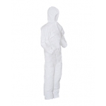 Microporous Cleanroom Coveralls with Hood, Elastic Wrists/Ankles/Back - Anti-Static Treated