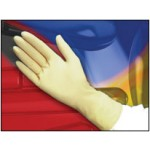 "Class 100 (ISO 5) Latex Cleanroom Gloves, 10"" & 12"" Cuffs, 6.5 Mil, 1000/case"