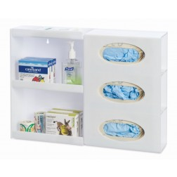 Glove Dispenser with Shelving