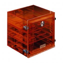 Amber 2 Shelf Desiccator Box