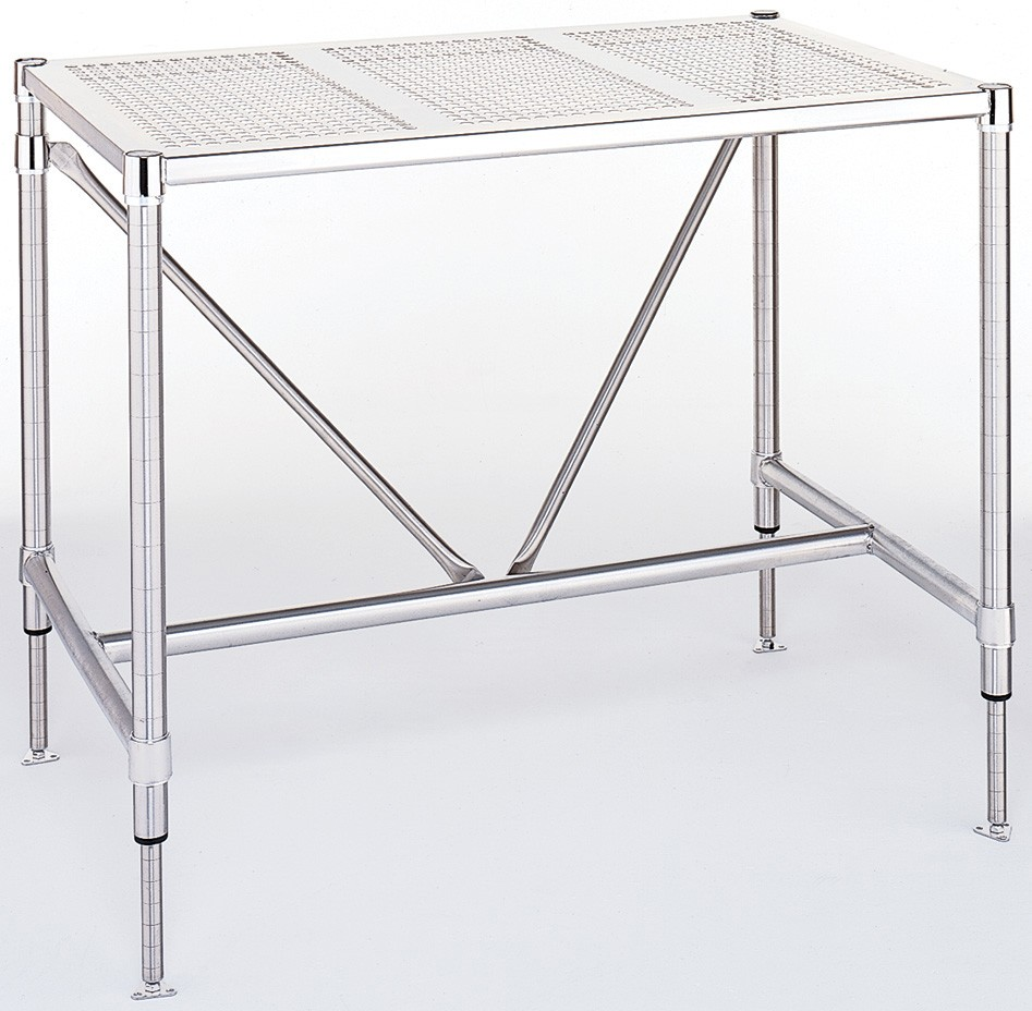 Metro Cleanroom Perforated Top Table