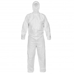 CleanMax Microporous Cleanroom Coveralls with Hood, Elastic Wrists/Ankles/Back
